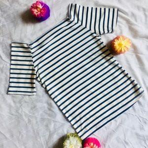 Tops - Size M Striped Square Neck Top